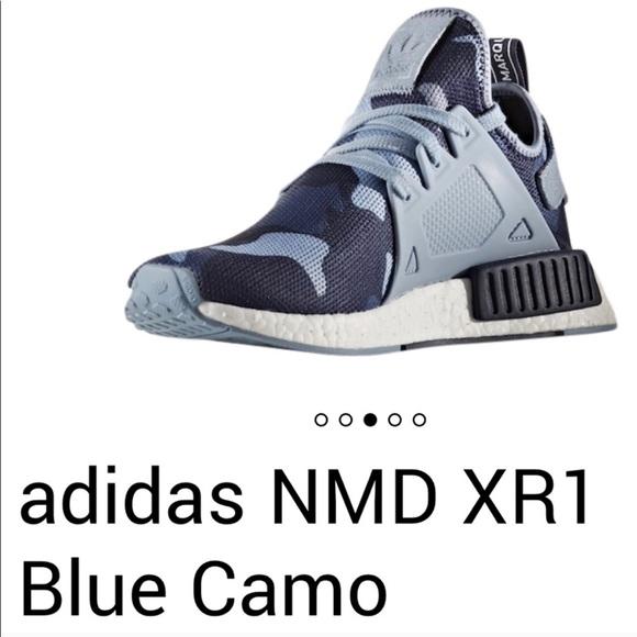 Adidas NMD R1 blue CAMO size 7.5